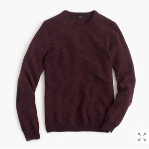 J. Crew Slim rustic merino elbow-patch sweater